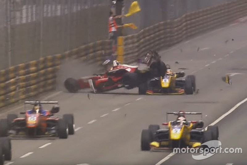 Macau crash used in F1 Halo presentation