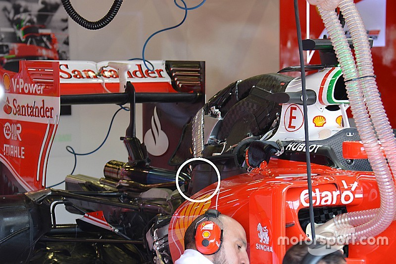 Ferrari strengthens turbo cover after Silverstone explosion