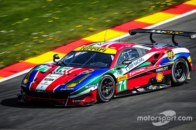 ferrari 488 gte monopolises the front row at spa. Black Bedroom Furniture Sets. Home Design Ideas