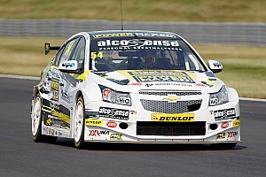 BTCC Breaking news Cameraman unhurt after car hits gantry in Snetterton crash