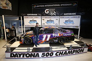 "NASCAR Sprint Cup Interview ""A total team win"" for Hamlin and Toyota"