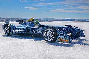 Formula E Breaking news Di Grassi drives Formula E car on Arctic ice cap