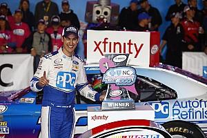NASCAR XFINITY Reporte de la carrera Logano gana en Charlotte; Suárez avanza en el Chase