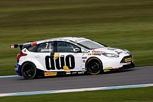 BTCC Race report Donington BTCC: Jackson cruises to victory as Subaru catches fire