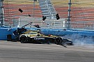 Carpenter leads ECR 1-2, Sato and Hinchcliffe crash