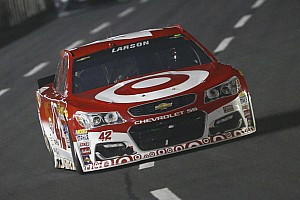 NASCAR Sprint Cup Breaking news Larson comes up short: