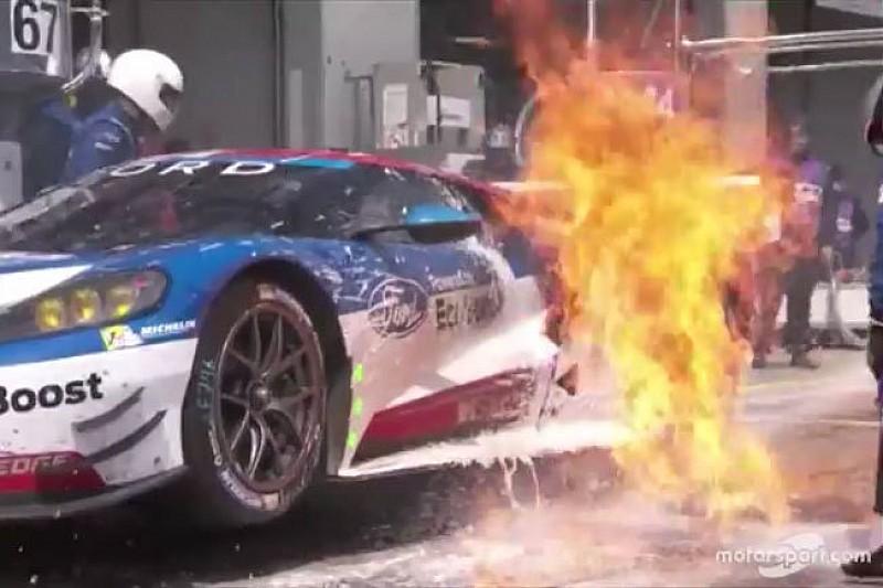 So erlebte Ford-Pilot Andy Priaulx das Feuer beim Boxenstopp