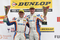 BTCC Photos - Podium: race winner Sam Tordoff, Team JCT1600 With Gardx, third place Robert Collard, Team JCT1600 With Gardx