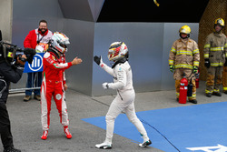 Race winner Lewis Hamilton, Mercedes AMG F1 celebrates in parc ferme with Sebastian Vettel, Ferrari