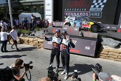 Podium: winners Jari-Matti Latvala, Miikka Anttila, Volkswagen Motorsport