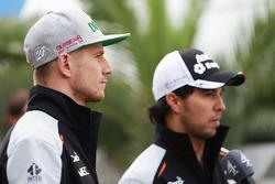 Nico Hulkenberg, Sahara Force India F1 and Sergio Perez, Sahara Force India F1