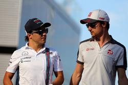 Felipe Massa, Williams F1 Team and Esteban Gutierrez, Haas F1 Team