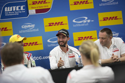 Press conference: Pole position for Mehdi Bennani, Sébastien Loeb Racing, Citroën C-Elysée WTCC; Thed Björk, Polestar Cyan Racing, Volvo S60 Polestar TC1; José María López, Citroën World Touring Car Team, Citroën C-Elysée WTCC; Yves Matton, Citroën Motorsport Director