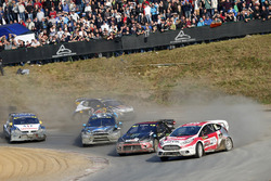 Kevin Eriksson, Olsbergs MSE; Petter Solberg, Petter Solberg World RX Team; Andreas Bakkerud, Hoonigan Racing Division