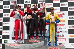 GTA podium: second place Michael Schein, winner Martin Fuentes, third place Brent Holden