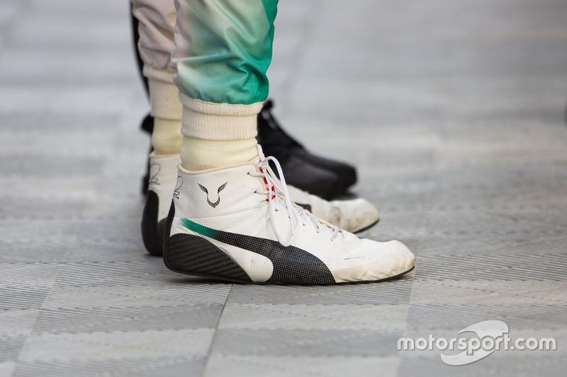 Racing Boots Of Lewis Hamilton Mercedes Amg F1 At