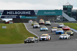 #1 GT Motorsport Audi R8 LMS: Greg Taylor leads at the start of the race