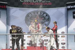 PC Podium: race winners #8 Starworks Motorsports ORECA FLM09: Renger van der Zande, Alex Popow, second place #52 PR1 Mathiasen Motorsports ORECA FLM09: Robert Alon, Tom Kimber-Smith, third place #38 Performance Tech Motorsports ORECA FLM09: James French, Kyle Marcelli