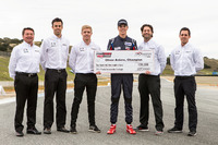 USF2000 Photos - Winner Oliver Askew with judges Scott Goodyear, Spencer Pigot, Jonathan Bomarito, Tristan Nunez