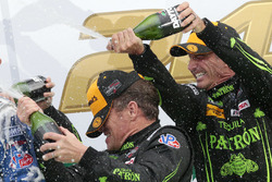 Winners Scott Sharp, Ed Brown, ESM Racing celebrate