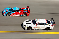 #01 Chip Ganassi Racing Riley DP Ford: Lance Stroll, Alexander Wurz, Brendon Hartley, Andy Priaulx, #100 BMW Team RLL BMW M6 GTLM: Lucas Luhr, John Edwards, Kuno Wittmer, Graham Rahal