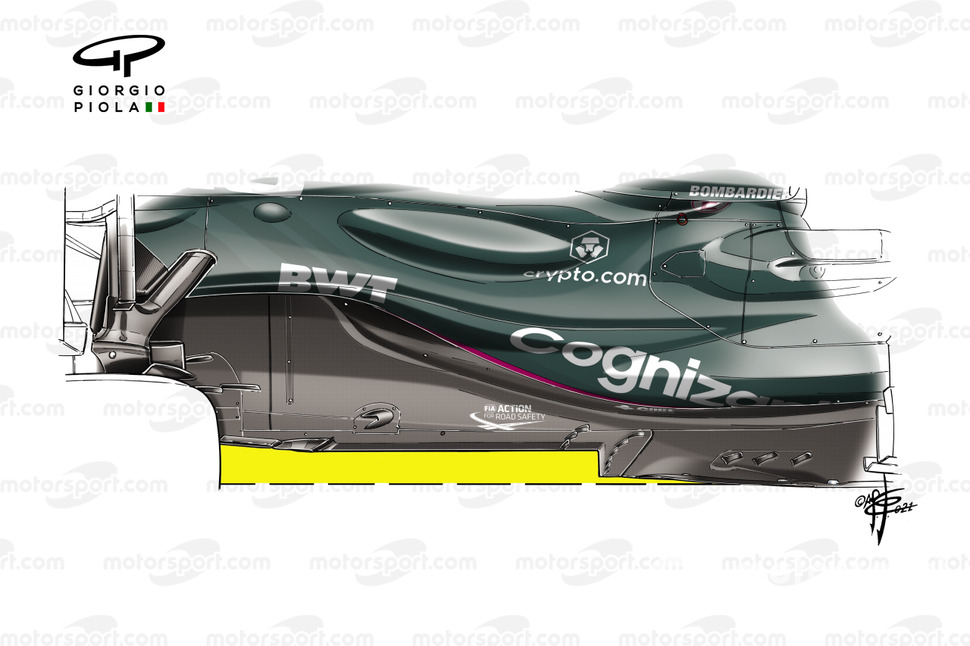 Piso del Aston Martin Racing AMR21.