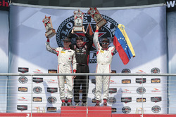 PC Podium: race winners #8 Starworks Motorsports ORECA FLM09: Renger van der Zande, Alex Popow