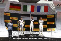 Podium: winner Matteo Cairoli, second place Sven Muller, third place Mathieu Jaminet