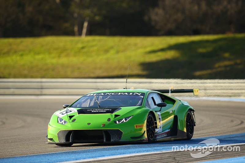 19 grt grasser racing team lamborghini huracan gt3 at paul ricard march testing. Black Bedroom Furniture Sets. Home Design Ideas