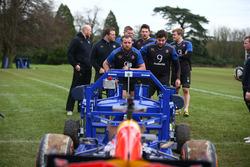 Red Bull F1 vs rugby scrum