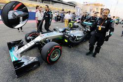 Mercedes AMG F1 Team W07, brake duct