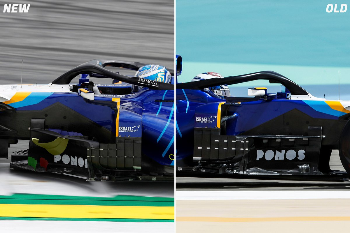Williams FW43B bargeboard comparison