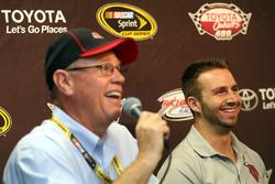 Matt DiBenedetto, BK Racing Toyota, Ron Devine, BK Racing team owner