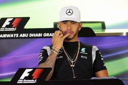 Lewis Hamilton, Mercedes AMG F1 in the FIA Press Conference