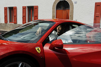 Automotive Photos - Kobe Bryant at Ferrari