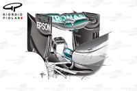 Formula 1 Photos - Mercedes W07 rear wing, Belgium GP