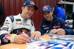 Mattias Ekström, EKS RX and Sébastien Loeb, Team Peugeot Hansen