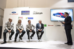 George Howard-Chappell, Ford GT program manager, Larry Holt, Multimatic Motorsports Technical Director, Dave Pericak, Director, Ford Performance, Chip Ganassi, Chip Ganassi Racing