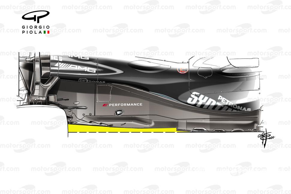 Piso del Mercedes AMG F1 W12