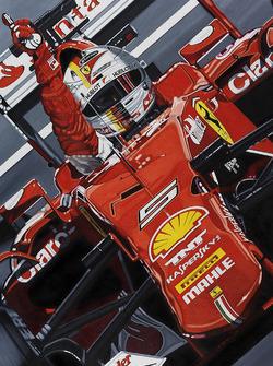 Sebastian Vettel artwork