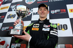 Podium: race winner Toby Sowery, Lanan Racing