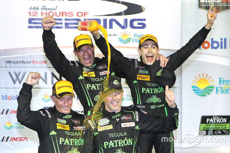 5. Overall winners Johannes van Overbeek, Scott Sharp, Ed Brown, Pipo Derani, ESM Racing