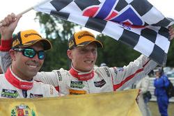 Race winners Alex Popow, Renger van der Zande, Starworks Motorsports