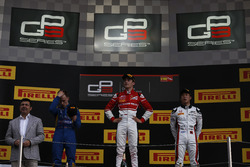 Charles Leclerc, ART Grand Prix, Jake Hughes, DAMS and Nirei Fukuzumi, ART Grand Prix