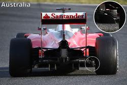 Ferrari SF16-H diffuser and diffuser winglets