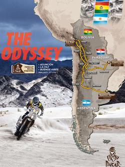 Map of the Dakar 2017