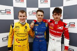 Qualifying Press Conference. Kevin Joerg, DAMS; Jake Hughes, DAMS and Charles Leclerc, ART Grand Prix