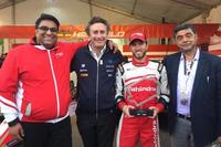 Formula E Foto - Alejandro Agag, Nick Heidfeld, Dilbagh Gill, Mahindra Racing,
