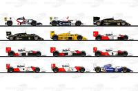 Formula 1 Photos - The F1 cars of Ayrton Senna's race career