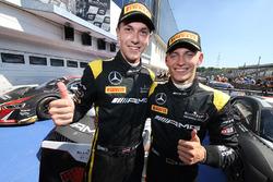 Winners #84 AMG Team HTP Motorsport Mercedes AMG GT3: Dominik Baumann, Maximilian Bühk